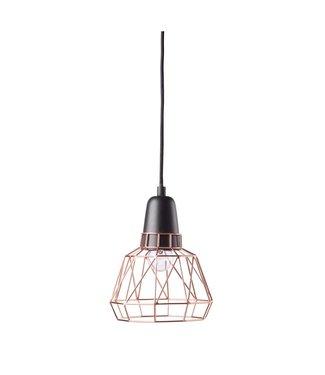Créton Maison ELTON Loftlamp klein Schwarz/Kupfer