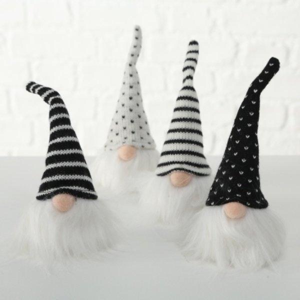 Wichtel 4er Set - Blacky schwarz/weiß/grau