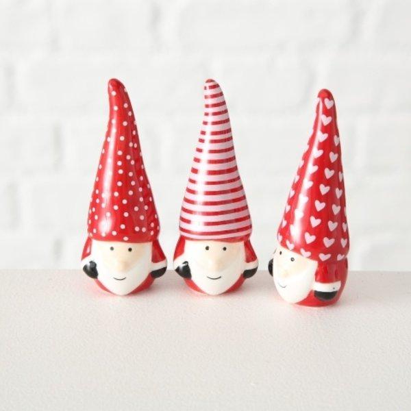 Weihnachtswichtel Olaf 3 er Set rot
