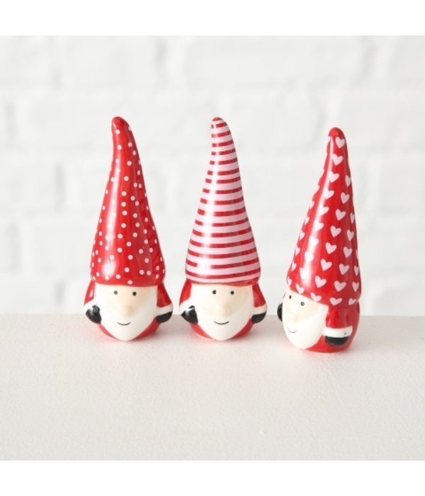 Boltze Weihnachtswichtel Olaf 3 er Set rot