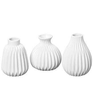 Boltze Vase Set  Origami weiß 3 tlg.