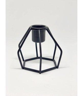 Werner Voss Teelichthalter Kerzenhalter Geometric schwarz