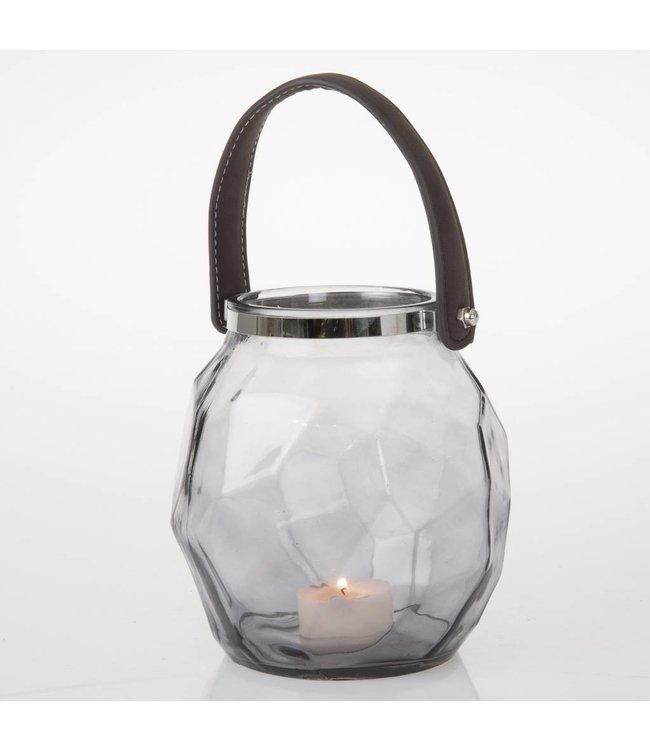 HomeartByBahne Teelicht Laterne mit Griff - Grau