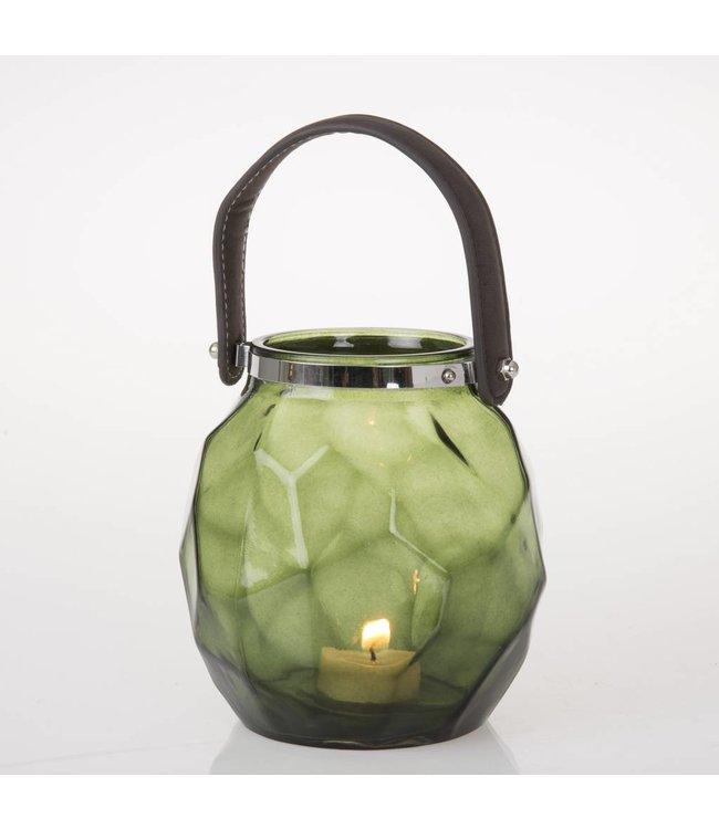 HomeartByBahne Teelicht Laterne mit Griff - Grün