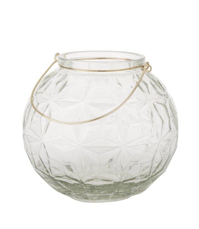 HomeartByBahne Kugel-Laterne/Vase Rund mit Griff - Ø 23 cm - Klar