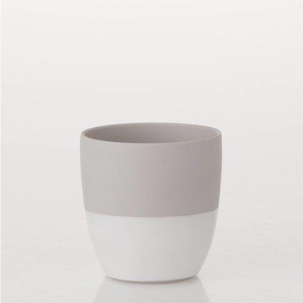 Teelicht Grau/Weiss