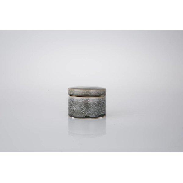 Keramikdose mit Deckel  Ø10 cm - Blau/grün/braun