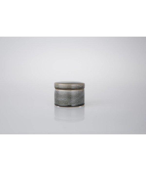 HomeartByBahne Keramikdose mit Deckel  Ø10 cm - Blau/grün/braun