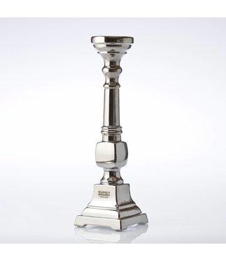 HomeartByBahne Kerzenhalter/Kerzenhalter Steingut, silberfarben - Höhe 39 cm