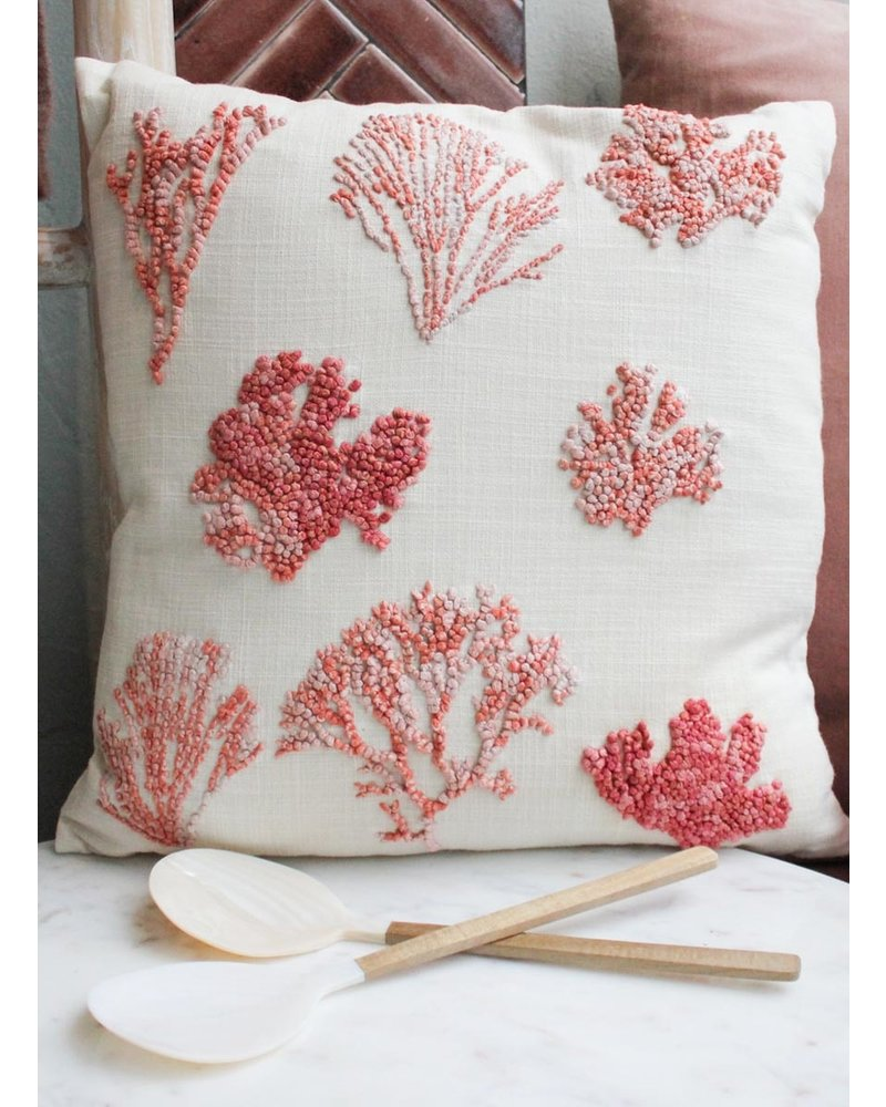 Weldaad Cushion with coral details