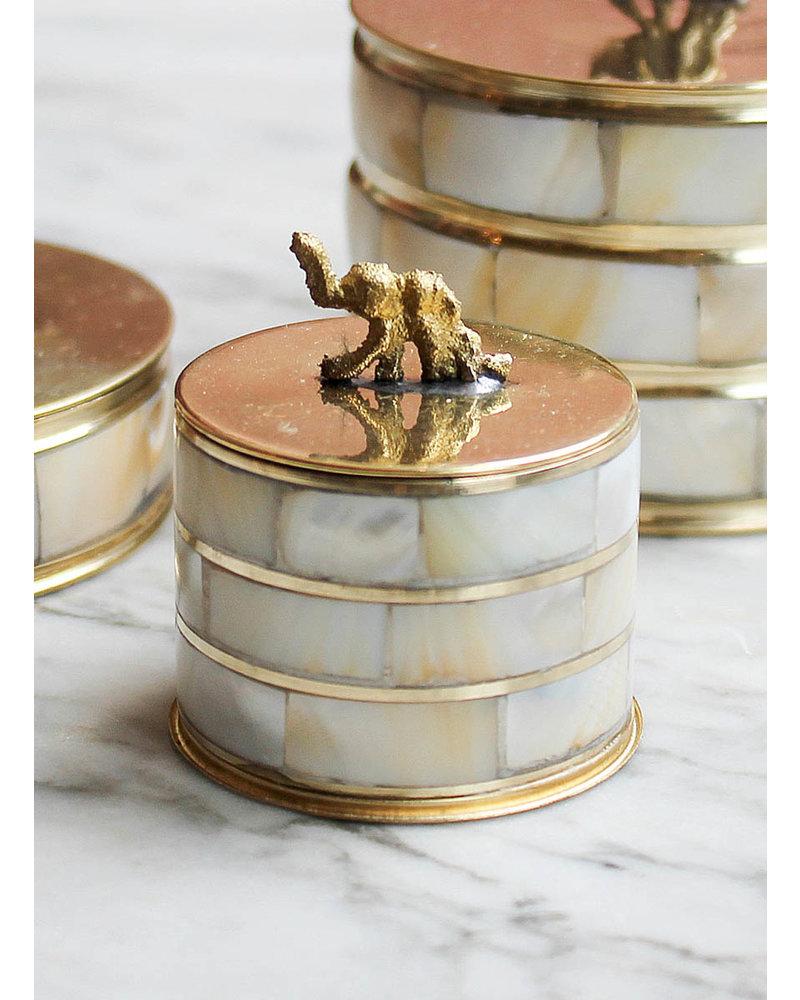 Muja Juma Schmuckschatulle mit Elefant auf Deckel