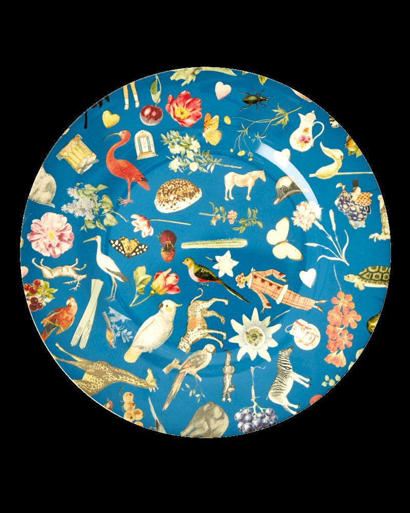 RicebyRice Dinner plate multi blue