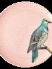 RicebyRice Medium bord vogel roze