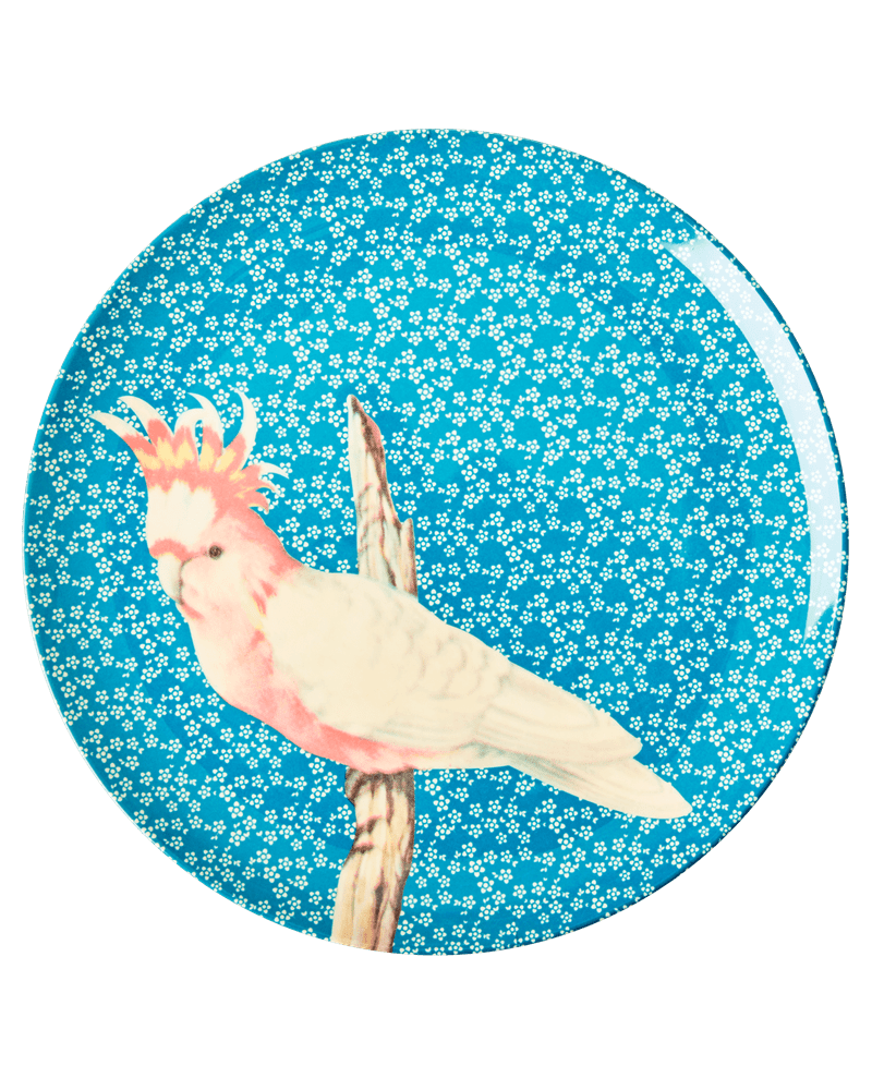 RicebyRice Medium bord vogel blauw