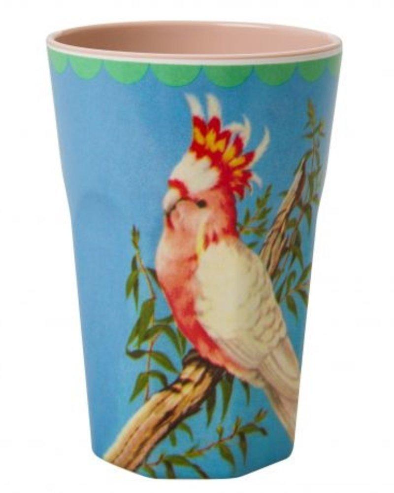 RicebyRice Grote beker Vogel blauw