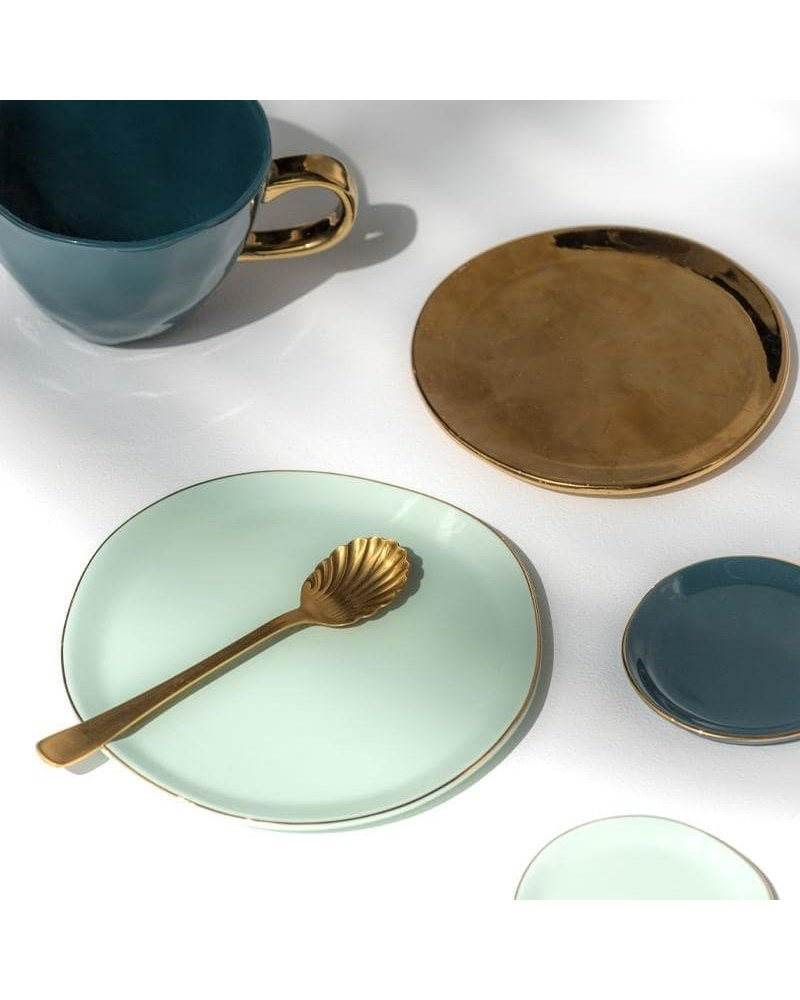 UNC Good Morning plate Celadon