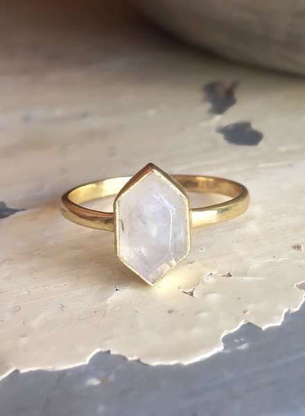 Muja Juma Ring Fancy Diamond Moonstone