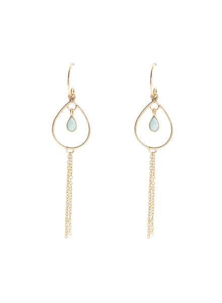 Muja Juma Earring summer chains amazonite gold plated