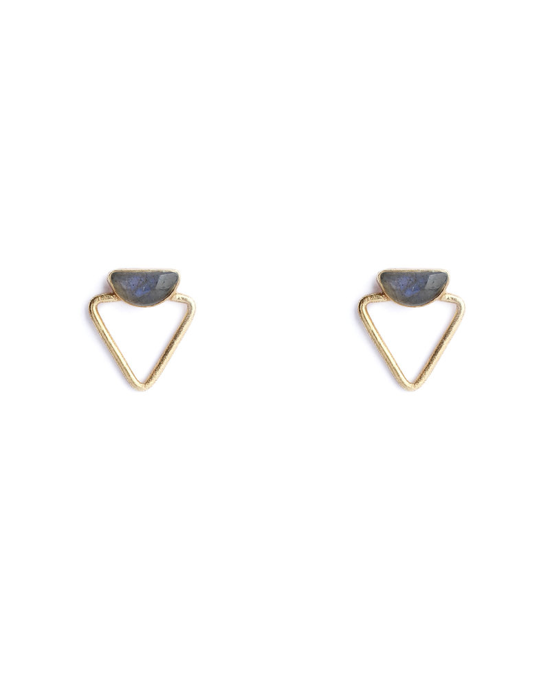 Muja Juma Earring 925 Sterling Silver with Labradorite gold plated