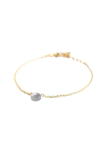 Muja Juma Bracelet 1 drop labradorite gold plated