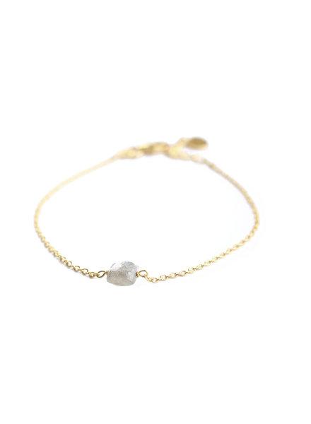 Muja Juma Bracelet 5mm square labradorite gold plated