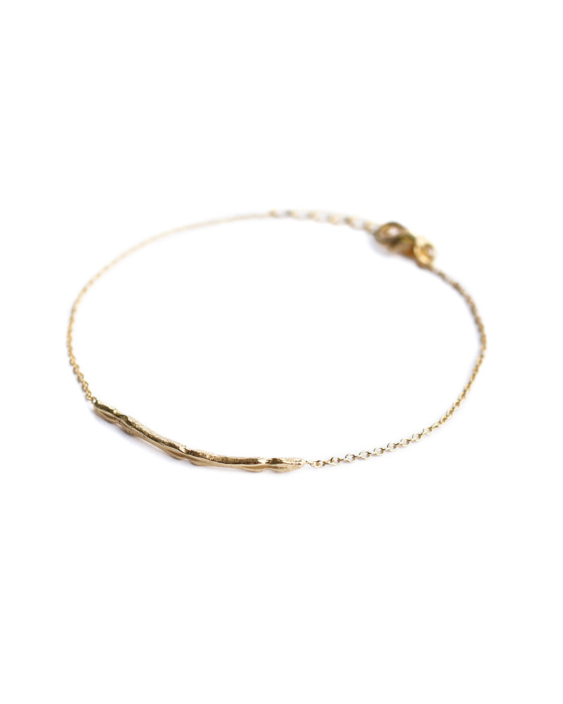 Muja Juma Bracelet 925 Sterling Silver gold plated