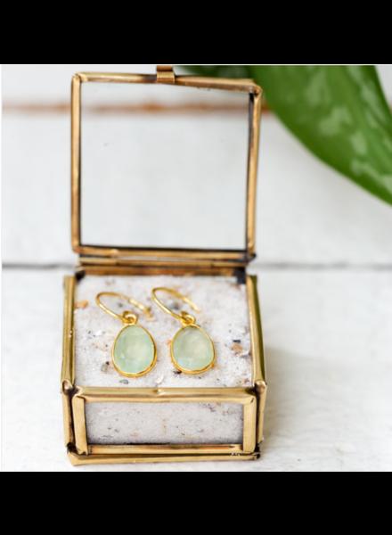 Muja Juma Earring medium drop prenite gold plated