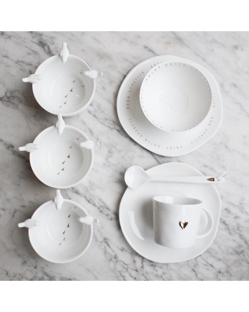 Rader Cup and saucer with heart