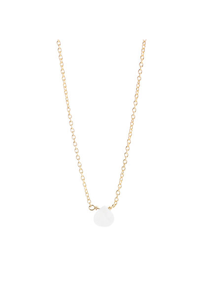 Muja Juma Necklace drop white moonstone gold plated