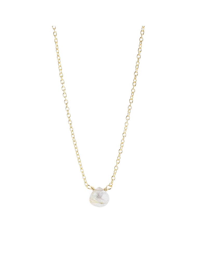 Muja Juma Halskette 925 Sterling Silber mit Labradorit vergoldet
