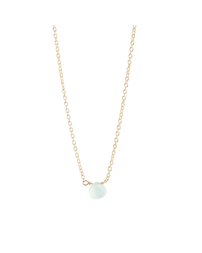 Muja Juma Necklace 925 Sterling Silver with Prenite gold plated