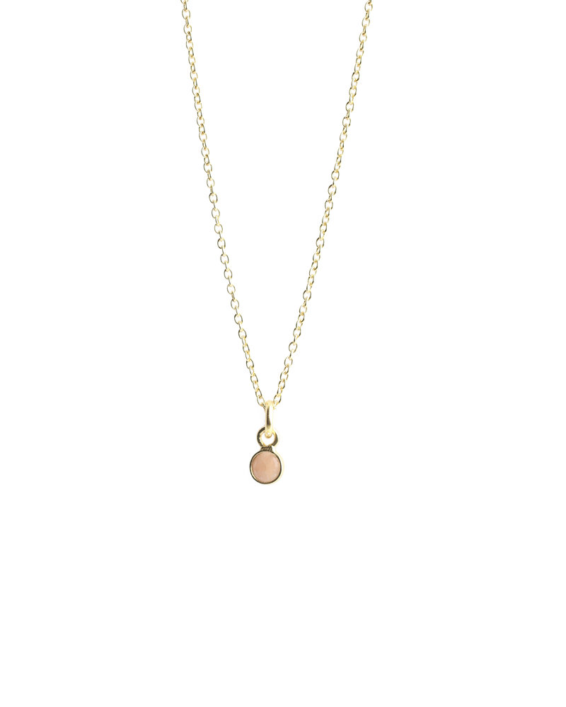 Muja Juma Necklace 925 Sterling Silver with Pink Calcedonite gold plated