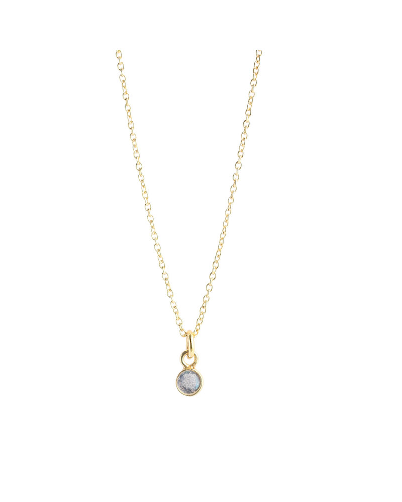 Muja Juma Necklace 925 Sterling Silver with Labradorite gold plated
