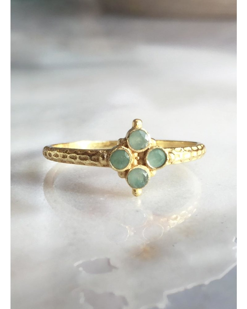 Muja Juma Ring four stone Amazonite