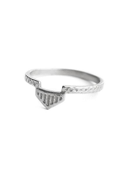 Muja Juma Ring aztekisches Silber