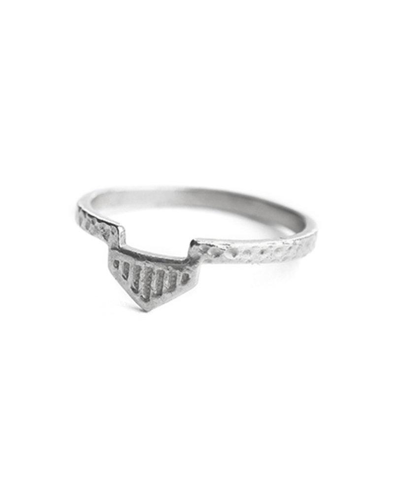 Muja Juma Ring aztec 925 Sterling Silber
