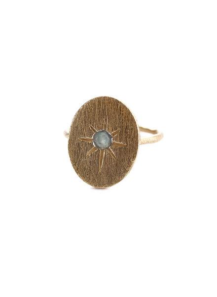 Muja Juma Ring star oval amazonite