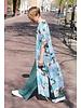 Muja Juma Kimono met kraanvogelprint