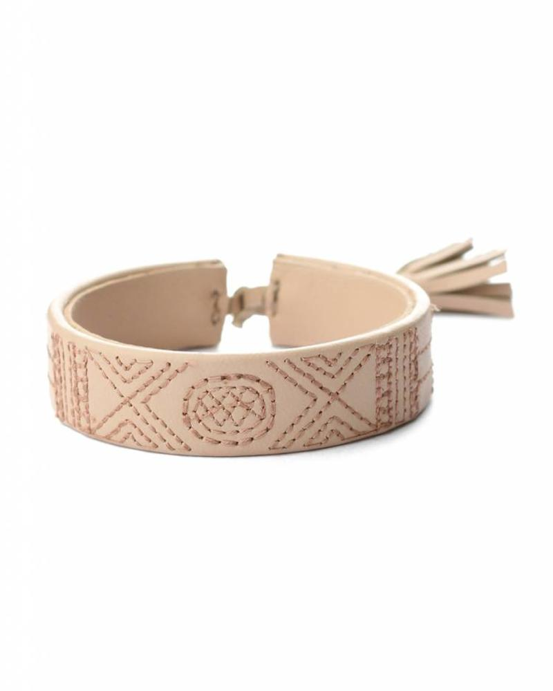 hand-made Nappa leren armband