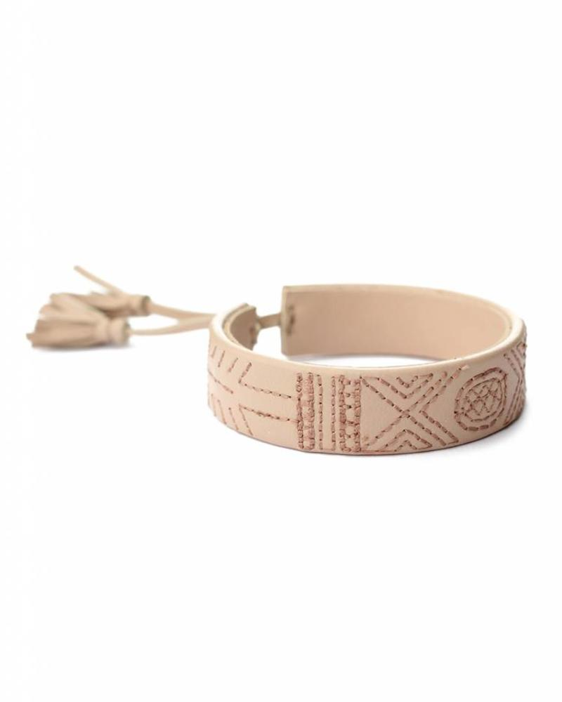 hand-made Nappa leather bracelet