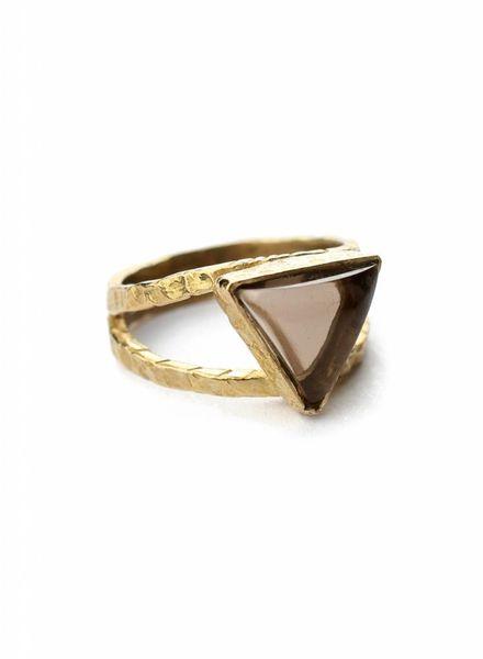 Dreieck Quarzring