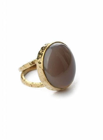Grau calcedonite Ring