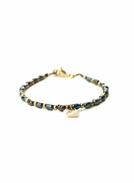 exoal Blaue perle armband