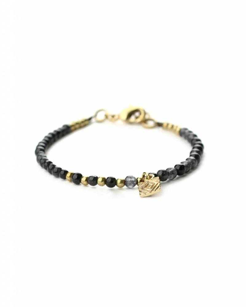 exoal Blue colored naturel stone bracelet