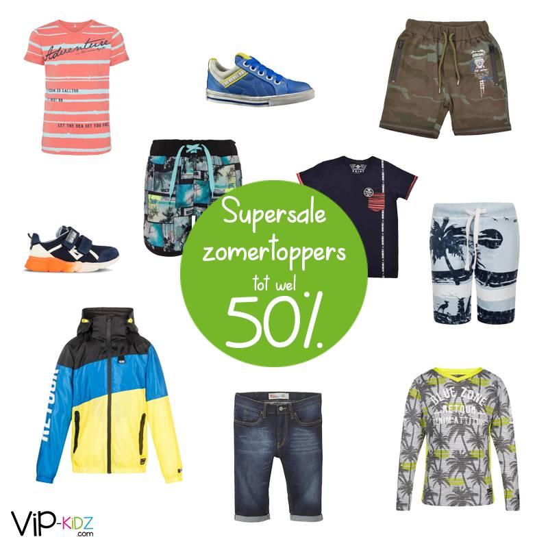Supersale zomertoppers voor jongens!