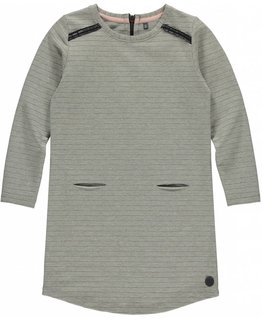 Levv Levv - AIDEEN Grey Melee Stripe Dress