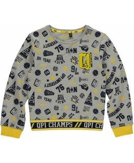 Quapi Quapi - Landon College Sweater grey