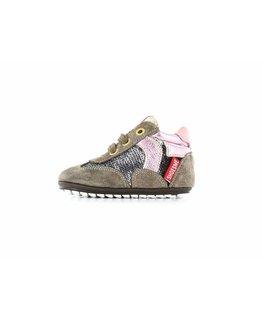 Shoesme Shoesme - Babyproof veterschoen glitter