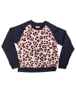 Little Miss Juliette Little Miss Juliette - Leopard sweater NVY