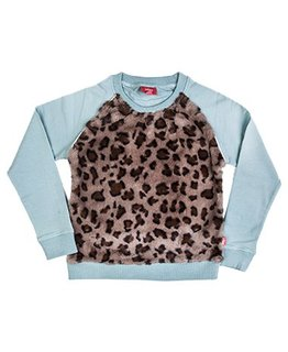 Little Miss Juliette Little Miss Juliette - Leopard sweater GRN